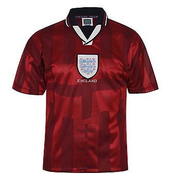 Score Draw Mens England 98 A Jersey Short Sleeve Collar Football Shirt Top