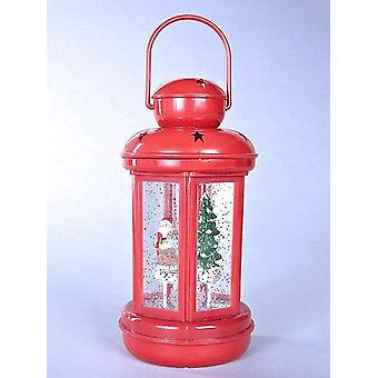 Santa's Workshop Water Filled Spinner Lantern Light Ornament