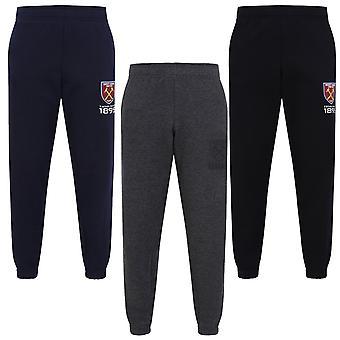West Ham United FC Oficiální fotbal Dárek Boys Slim Fit Fleece Joggers Jog Kalhoty