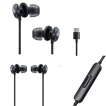 Official Oppo MH150 USB-C Earphones Headphones - Black (Bulk Packed)