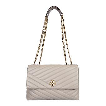 Tory Burch 58465082 Women's Grey Leather Shoulder Bag