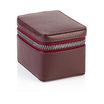 Burgundy Richmond Leather Small Trinket Box