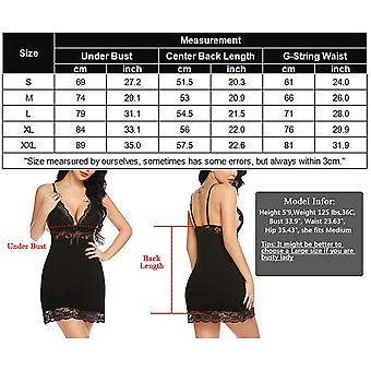 ADOME Women Sleepwear Lace Nighties Slip Dress Babydoll Lingerie V Neck Chemi...