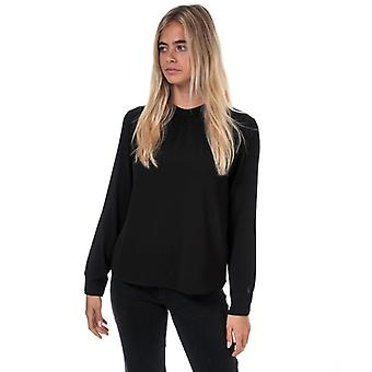 Women's Only New Mallory Long Sleeve Top in Black