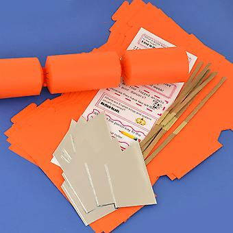 8 Orange Make & Fill Your Own DIY Recyclable Christmas Cracker Craft Kit