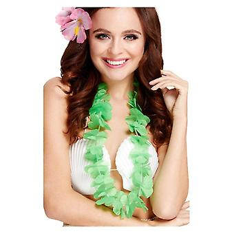 Womens ragazze verde Hawaiian Lei costume accessorio