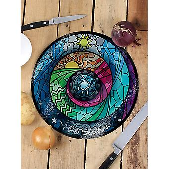 Grindstore Stained Glass Spectroscope Glass Chopping Board