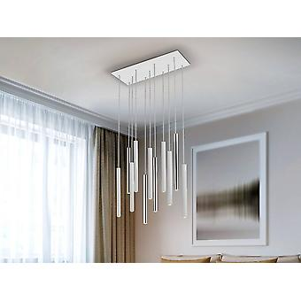 Schuller Varas - Integroitu LED 11 Light Cluster Drop Bar Kattoriipus Matt White, Kromi