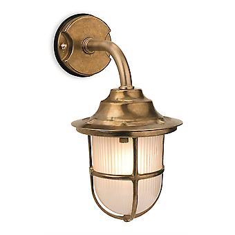 1 Lichte buitenmuur licht messing, matglas IP64, E27