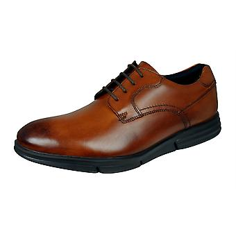 Base London Force Mens Leather Shoes - Washed Tan