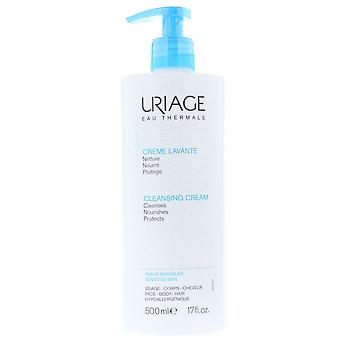 Uriage Cleansing Cream 500ml Sensitive Skin - Cleanses Nourishes Protects