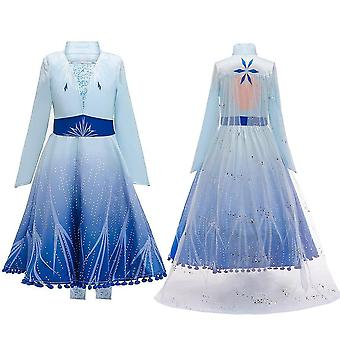 Girls Frozen Queen Elsa Cosplay Fancy Dress Party Costume & Accessories