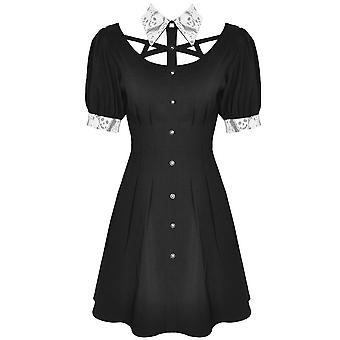 Dark In Love Skull Lace Collar Mini Dress