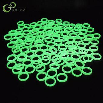 20pcs/lot Bijoux lumineux - Fluorescent Cute Plastic Glow In The Dark Finger