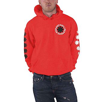 Red Hot Chili Peppers Hoodie Classic Asterisk Logo Official Mens Red Pullover