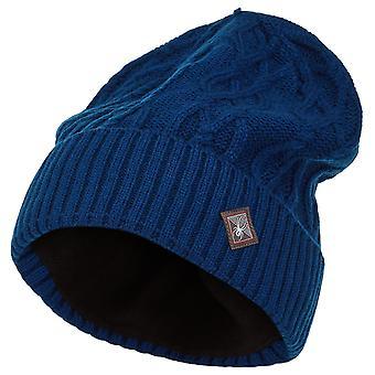 Spyder KAAPELI NEULO Naisten neulottu talvi hiihto hattu navy