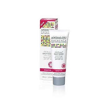 Andalou Naturals 1000 Roses Daily Shade Facial Lotion, With SPF 18 , 2.7 Oz