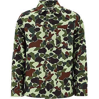 Junya Watanabe Wfj907w20 Men's Camouflage Cotton Outerwear Jacket