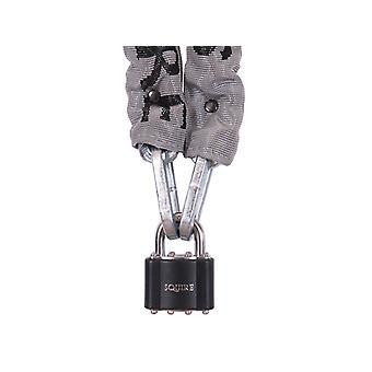 Henry Squire Toughlok Lock & Chain Set 90cm x 5mm HSQ3536PR