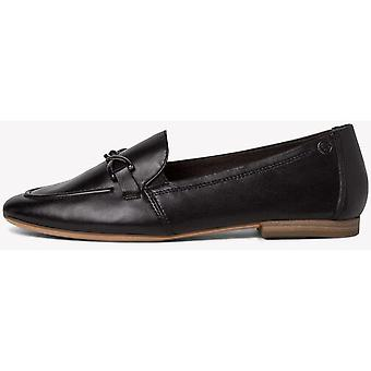 Schwarzes Leder Low Heel Schuhe