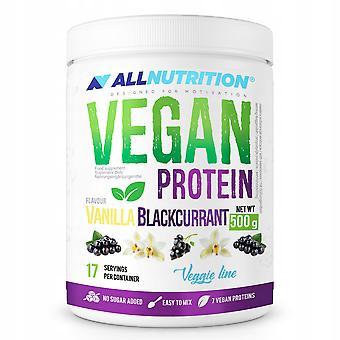Allnutrition Vegan Eiwit Vanille Zwarte bes 500 gr