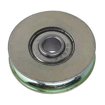 Farebné oceľové dlaždice Groove železničnej kladky pasívne rolloer koleso 6,4x32x8mm