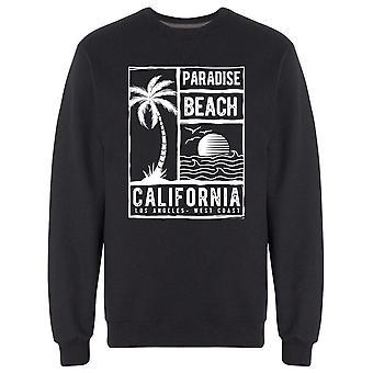 الجنة شاطئ كاليفورنيا شعار Sweatshirt الرجال & apos;s-الصورة من قبل Shutterstock