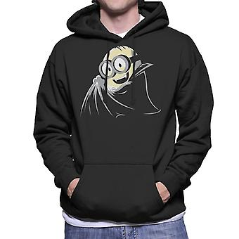 Despicable Me Dave The Minion Dressed As A Vampire Men's Hooded Sweatshirt