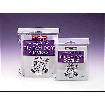 Caroline Jam Pot Covers 1lb x 24 1110