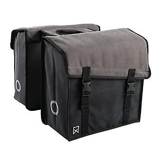 Willex Double Bicycle Bag 101 Canvas 38 L Grey and Black