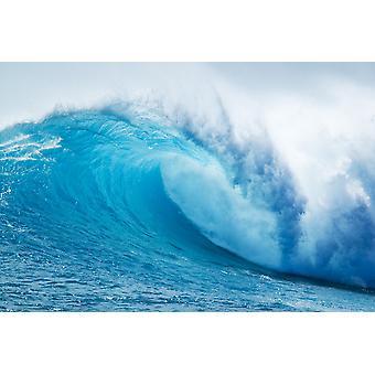 Schöne Blue Ocean Wave PosterPrint