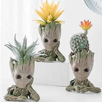 Flower Pot Multifunction Decoration Storage Crafts Groot