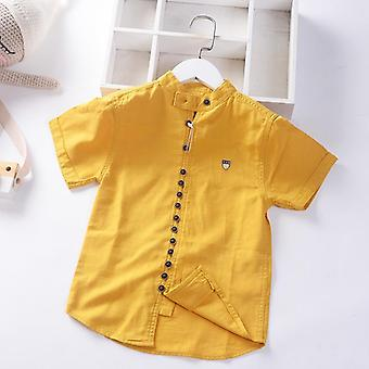 Cotton Linen Cool Fabric Straight Built In Teen Shirts Summer Casual Buttons's