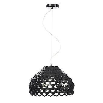 Italux Donna - Moderno pendente appeso nero 1 luce con tonalità nera, E27