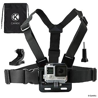 Camkix replacement chest mount harness compatible with gopro hero 6, 5, black, session, hero 4, sess