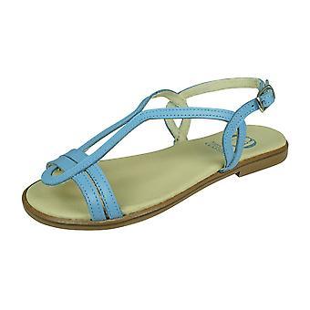 Angela Brown Chloe Småbarn Flickor Läder Strappy Sandaler - Blå