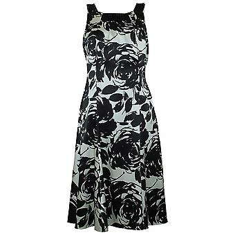Michaela Louisa Monochrome Sleeveless Fully Lined Satin Dress With Bead Detailing