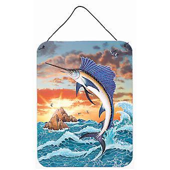Sailfish auringonlaskun seinällä tai oven roikkuvat tulosteet