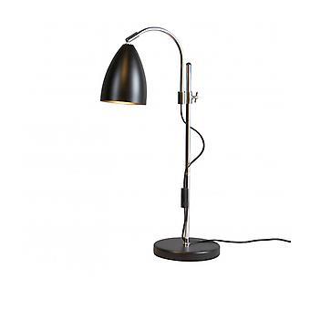 Lampe de table de balancement en métal et noir mat