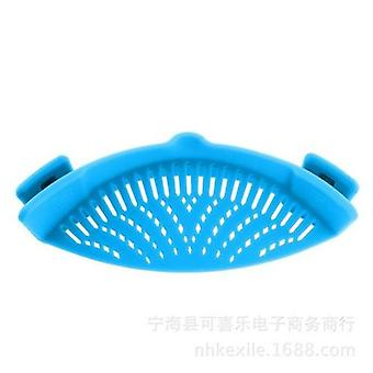 Silicone Kitchen Strainer Clip Pan Drain Rack Bowl Funnel