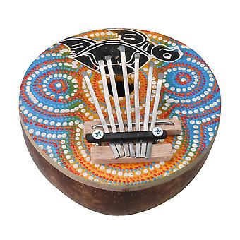 Multicolour 7 Key Kalimba Music Instrument Finger Percussion Keyboard