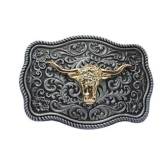 Western Cowboy Engraved Animal Belt Buckle Vintage Belt Buckle Oval Cowboy Belt Buckle
