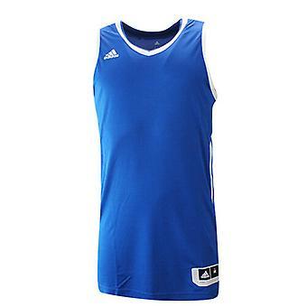 Adidas Essential Kit 3.0 Blue White Polyester Mens Sleeveless Jersey AI4668 RW12