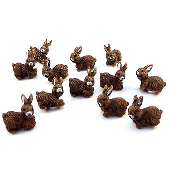 Puppen Haus Set von 12 Hasen Kaninchen