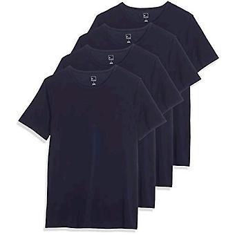 Brand - Meraki Men's Round Neck Undershirt, Pack of 4