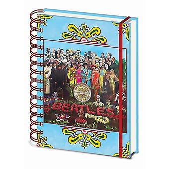 The Beatles Sgt Peppers Lonely Hearts A5 Wirebound Notebook
