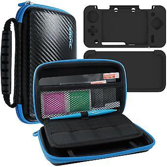 Afunta 4 in 1 protective kit for new nintendo 2ds xl, zipper carrying case, silicone cover, stylus a