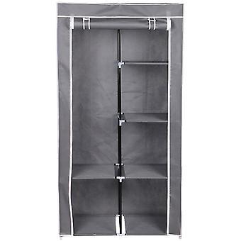 Guarda-roupa, têxtil, cinza escuro, 88x46x170 cm