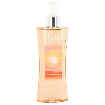 Kroppen fantasier signatur Sweet Sunrise Fantasy av Parfums De Coeur Body Spray 8 oz/240 ml (kvinnor)
