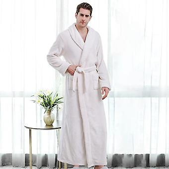 Miehet Naiset Rento Sleepwear Syksy Talvi Flannel Pitkä Paksu Lämmin Sleepwear